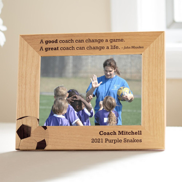 Personalized Soccer Coach Picture Frame