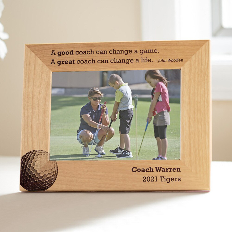 Personalized Golf Coach Picture Frame