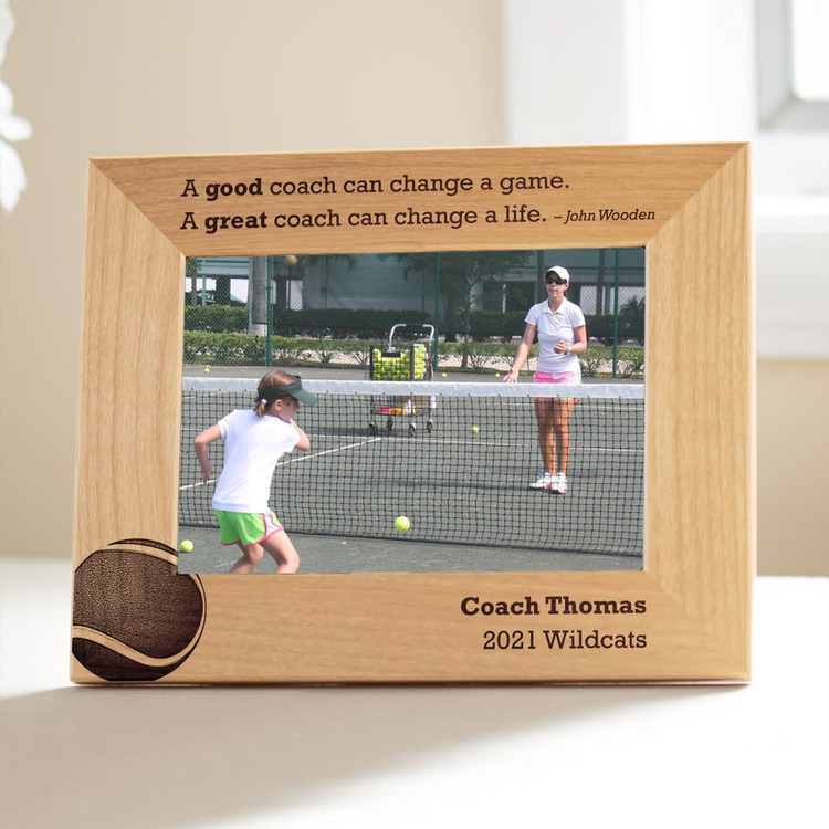 Personalized Tennis Coach Picture Frame