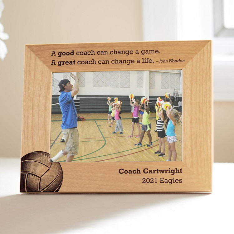 Personalized Volleyball Coach Picture Frame