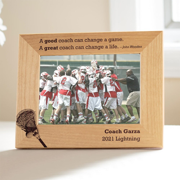 Personalized Lacrosse Coach Picture Frame