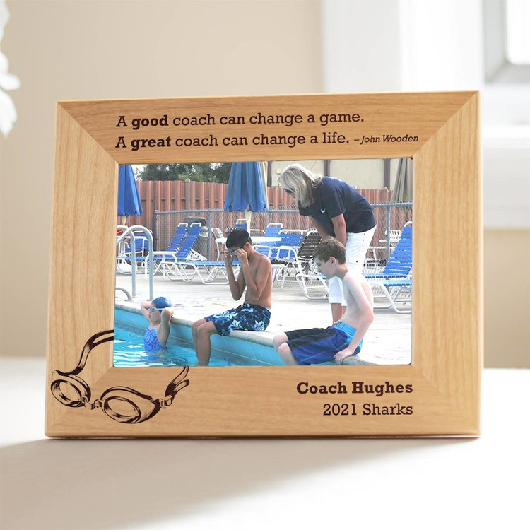 Personalized Swimming Coach Picture Frame