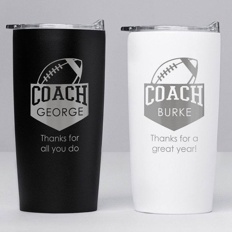 Football Coach Stainless Steel Tumbler