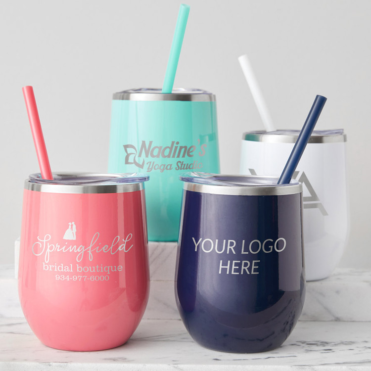 Bulk Custom Engraved Wine Tumbler with Logo Image