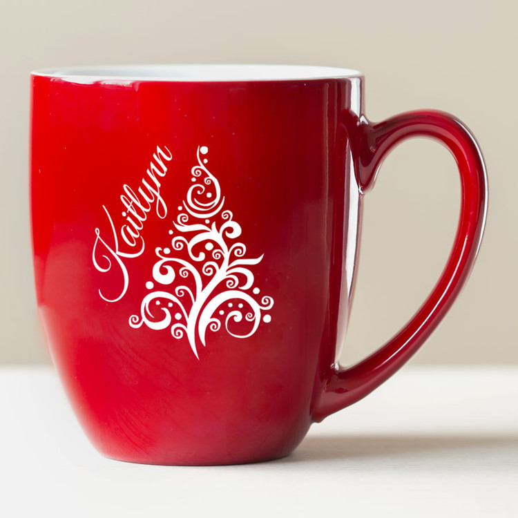 Personalized Christmas Tree Coffee Mug