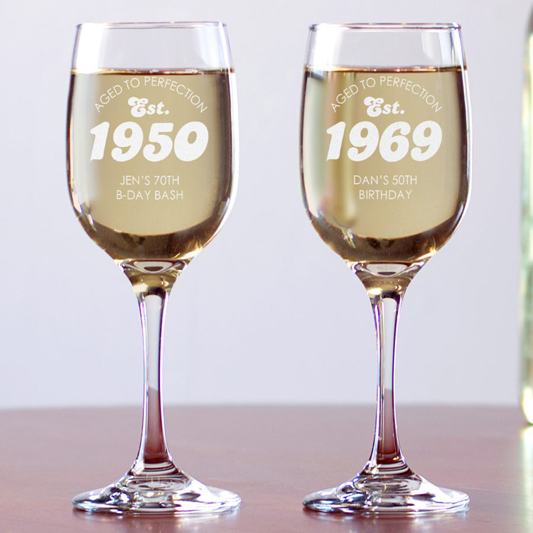 Personalized Birthday Celebration Wine Glass