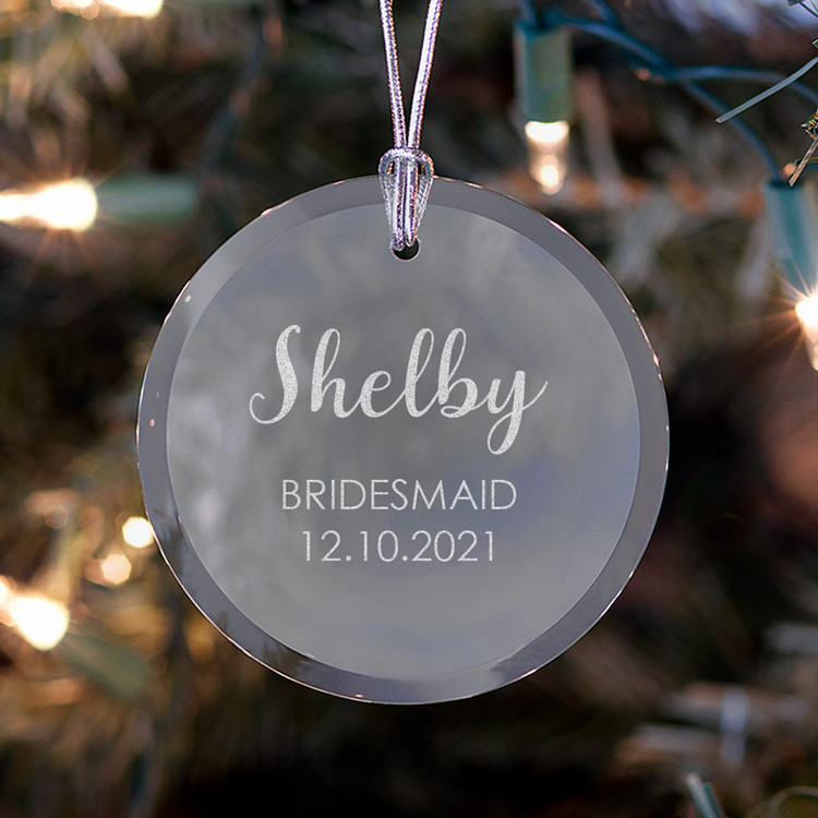Personalized Bridesmaid/Maid of Honor Ornament