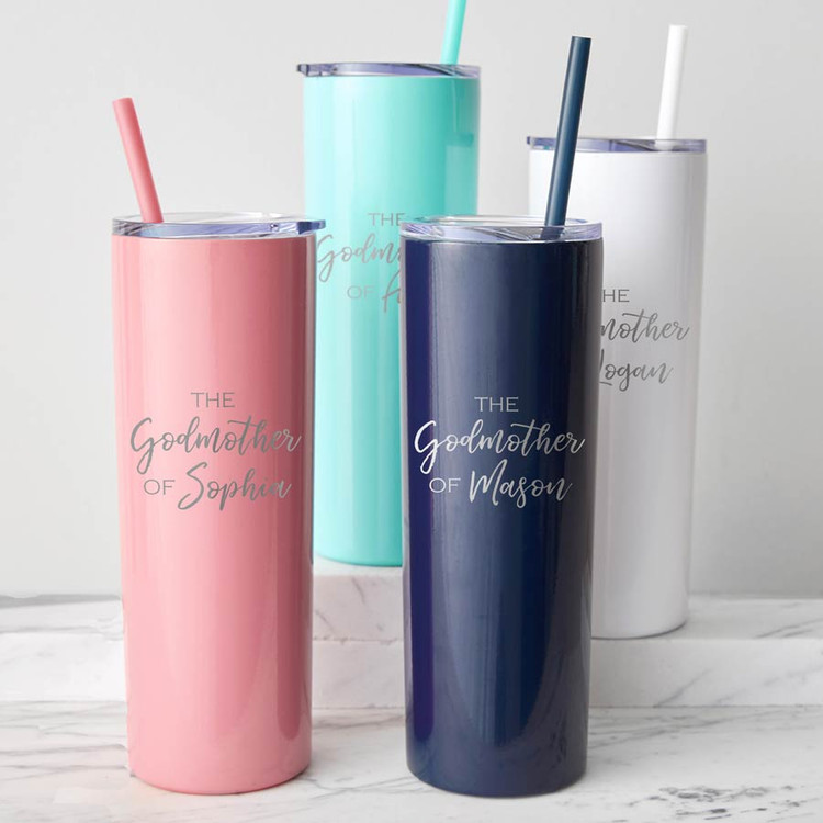 personalized godmother tumbler