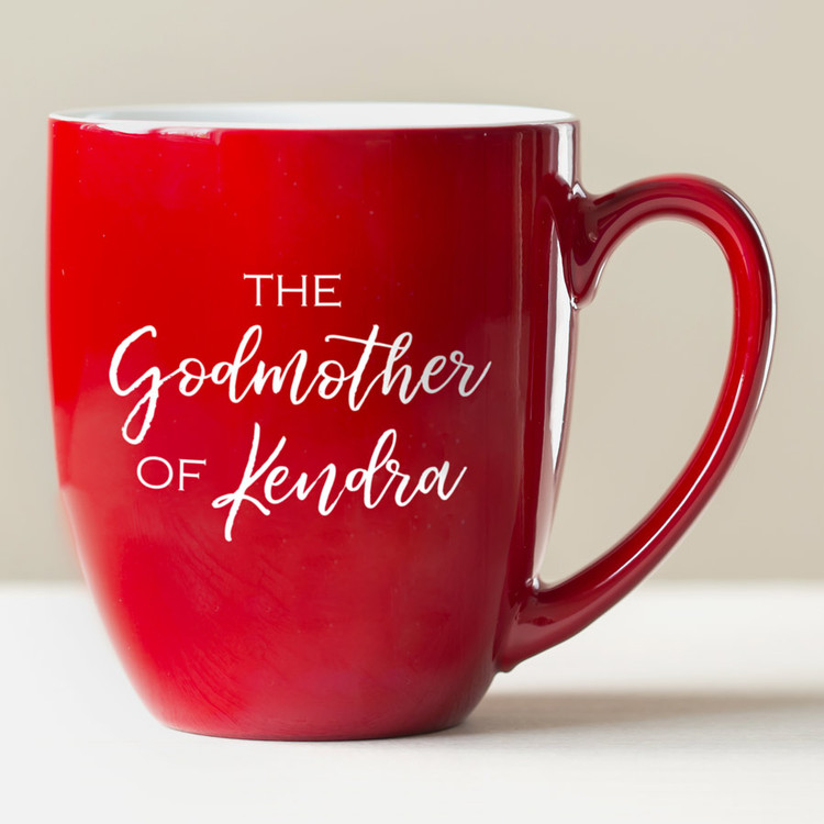 Personalized Godmother Coffee Mug Red