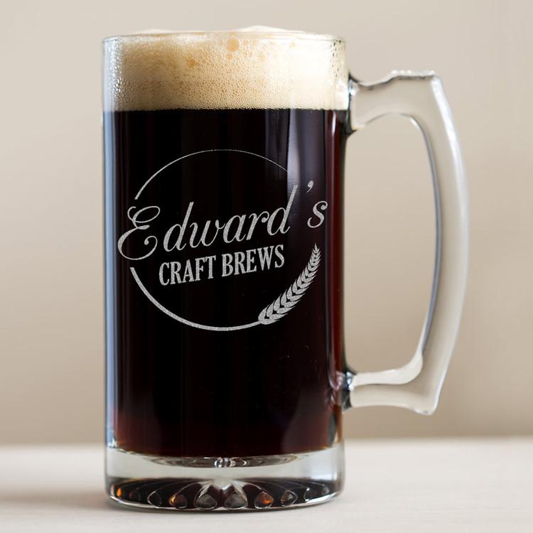 Personalized Craft Brews Beer Mug