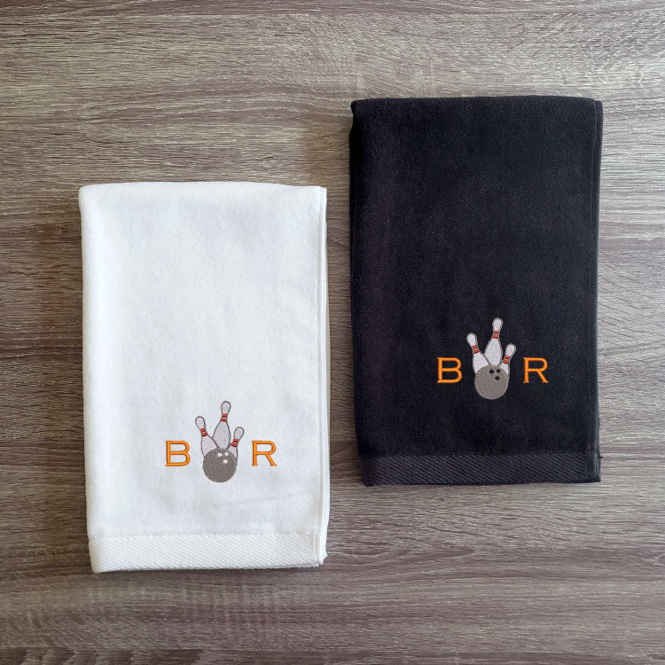 Embroidered Personalized Monogram Bowling Sports Towel
