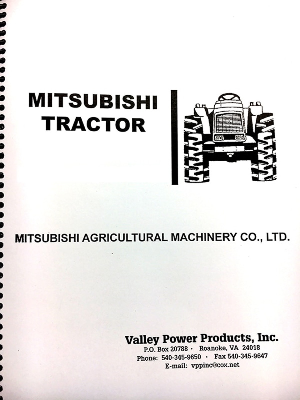 Satoh / Mitsubishi MT372, MT372D Repair Manual