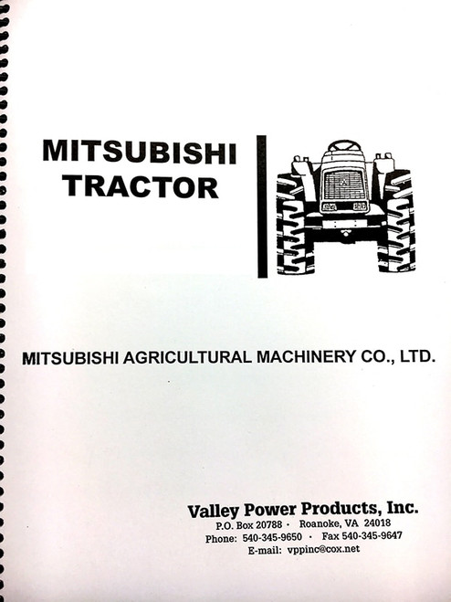 satoh / mitsubishi d1300, d1300fd, st1300 parts manual - valley power  products  valley power products
