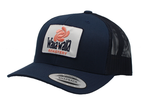 WWR Trucker Hat, White Patch (Flat or Curved Bill)