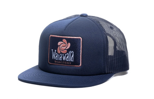 WWR Trucker Hat, Blue Patch (Flat or Curved Bill)