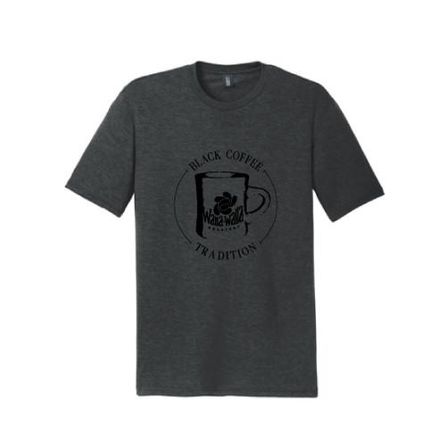 "WWR  Tri-Blend T-shirt, Black Frost, ""BLACK COFFEE TRADITION"" Logo"