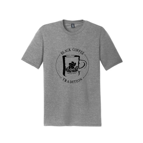 "WWR  Tri-Blend T-shirt, Grey Frost, ""BLACK COFFEE TRADITION"" Logo"
