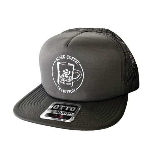 "WWR Trucker Hat, GRAY, ""BLACK COFFEE TRADITION"" Logo"
