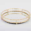 Gold Bamboo Round Mirrored Tray