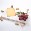 Alt Picture of White Marble Small Cheese Board