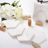 Alt pic 2 of White Marble Hexagon Coaster Set of 4
