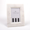 White Marble 4x6 Picture Frame