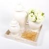 White Ginger Jar- Med