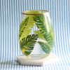 Botanical Leaf Stemless Wine Glass
