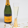 Gold Geo Hammered Champagne Glass