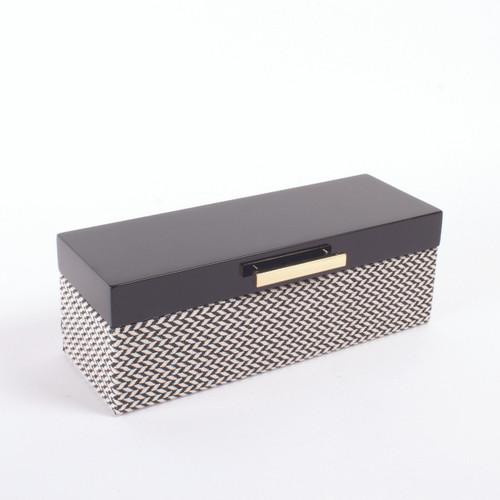 Picture of Jewelry Box Blk Chevron Lacq