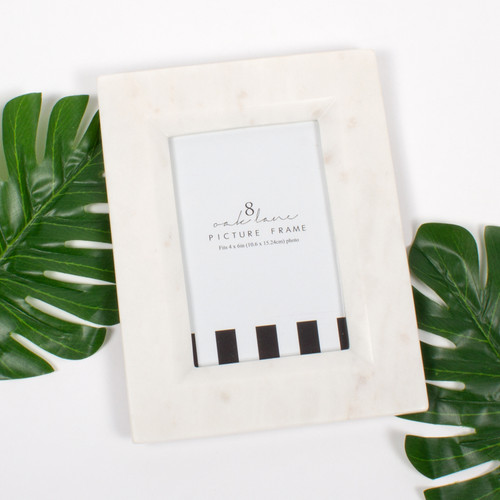 Picture of White 4x6 Marble Picture Frame