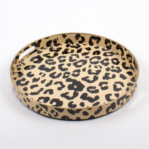 image of Round Tray - Leopard