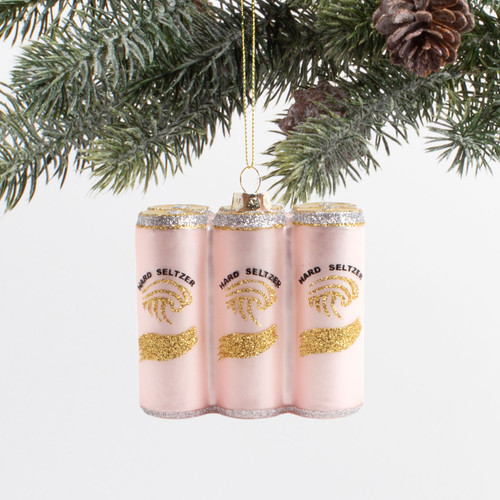 Glass Ornament-Seltzer 6 Pack
