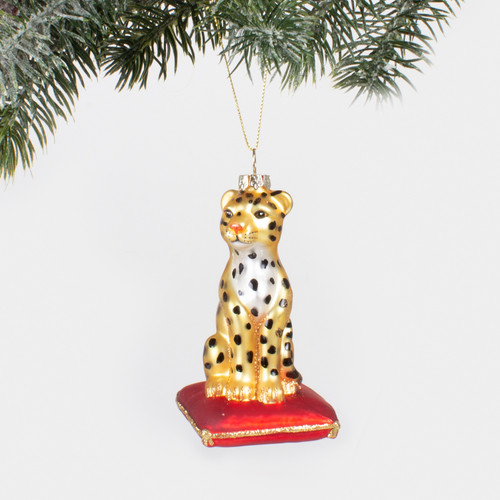 Picture of Glass Ornamnet - Leopard