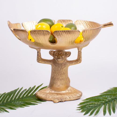 Alt pic of Fruit Bowl - Monkey - Gold