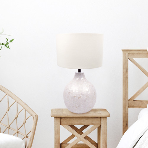 Mother of Pearl Table Lamp - Chevron
