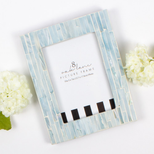 Mother of Pearl 5x7 Picture Frame - Blue
