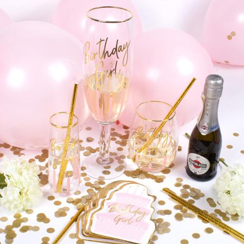 20oz Stemless Wine Glass - Birthday Girl