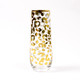 Stemless Champagne Glass - Gold Leopard