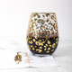 image of Stemless Wine - Gold Leopard