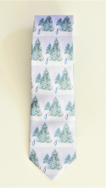 LollyZip JDZip Christmas Tree Tie Its Crowded in There - Green, Grey, Red