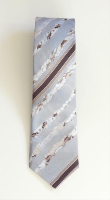 LollyZip JDZip Tie Striped Moon Rise Through Birch - Grey, Ivory, Brown