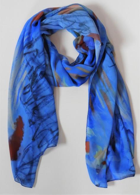 Long Chicken Party chiffon scarf