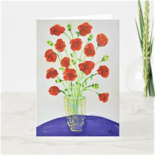 Artful Note Card - Poppy Mania