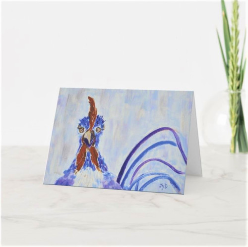 Artful Note Card - Sheila the Rooster