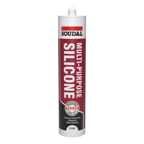 Rearo Multi Purpose Silicone Clear Sealant by Soudal