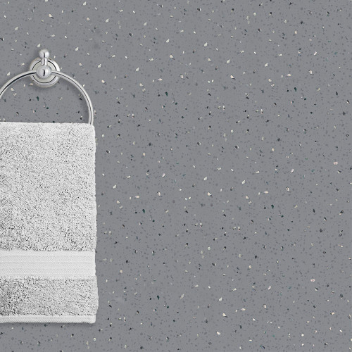 Ancona Grey Storm Sparkle PVC PVC Waterproof Shower Panel Room