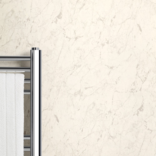 Ancona White Marble PVC PVC Waterproof Shower Panel Room
