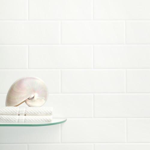Versatile White Brick Tile Effect Shower Panel Room