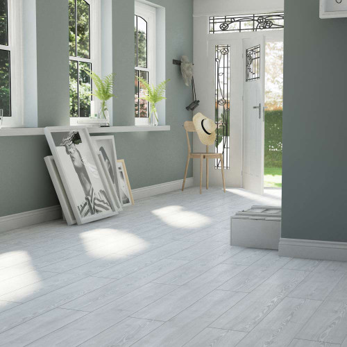 Clixeal Antique White Oak Vinyl Floor Planks Room Style